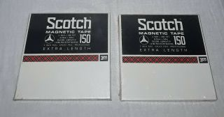 Scotch Magnetic Tape 150 Blank 7 Inch Reel To Reel Tapes 1800 Feet 2 Nos