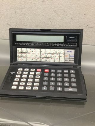 Tandy Pc - 5 Programmable Pocket Vintage Scientific Computer Untested/for Parts