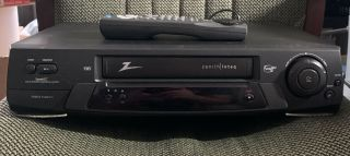 Zenith Inteq Iqvb423 4 - Head Hi - Fi Vcr Vhs Recorder Tape Player - With Remote