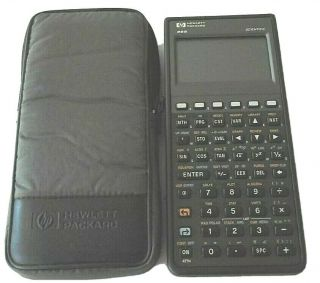Hp 48s Scientific Calculator With Padded Case And Great (bin F)
