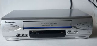 Panasonic Pv - V4523s Silver Vcr Vhs Player Recorder No Remote.  Tested/working