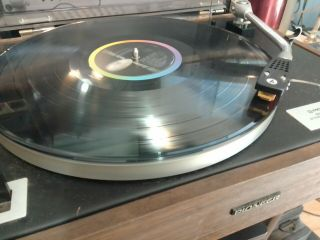 Vintage Pioneer Pl - 12ac Turntable With Audio - Technica Stylus For Restoration