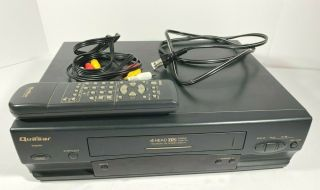 Quasar Vhq540 Vcr Vhs Player Recorder With Remote And Av Cable