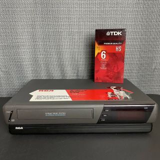 Rca Vr507 4 Head Vcr Vhs Player Video Cassette Recorder,  Tape -