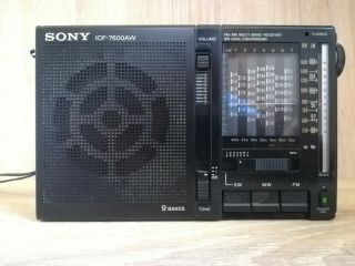 Sony Icf - 7600aw 9 Bands Receiver Radio,  Or Restoration