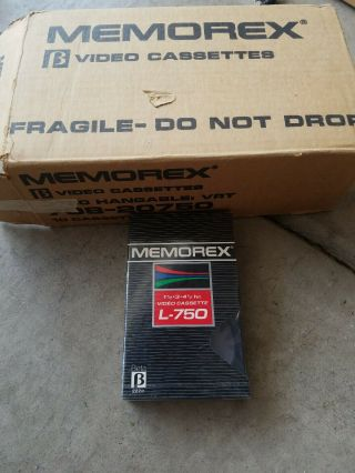 Nos 10x Memorex L - 750 Blank Beta Video Cassettes And