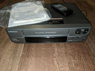 Orion Vcr 4 Head Player Vhs Recorder W/remote &