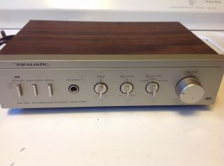 Vintage Realistic Sa - 150 Integrated Stereo Amplifier Model 31 - 1955