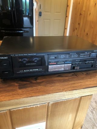 Teac R - 477 Stereo Double Auto - Reverse Cassette Deck Player/recorder