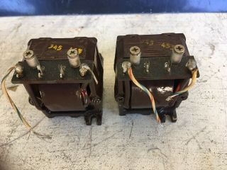 Vintage Matching Pair Hp Tube Audio Filter Choke Inductors Approx 2h 54ohms