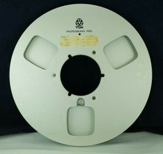Tdk Professional Metal 10.  5 Inch Empty Reel For Reel To Reel Players