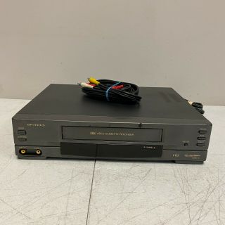 Optimus Vcr Player Model 94 16 - 532 4 - Head Cassette Recorder