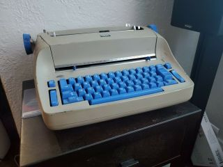 Ibm Selectric 1 Model 72 - Blue Keys - Ibm Beamspring Keycaps - As - Is