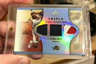 2006 - 07 Ud Reflections Lebron James Triple 4 Color Patch 3/15 Lakers Mvp Champs