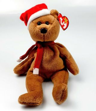 Ty Beanie Baby 1997 Holiday Teddy Bear 4200 Plush Pvc Pellets Bd 12 - 25 - 96