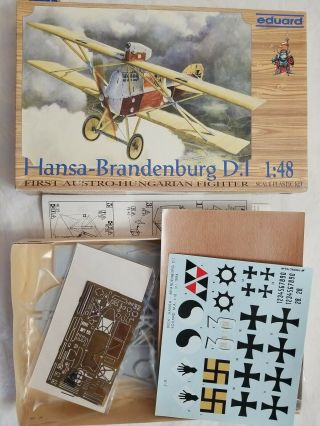 1994 Eduard 8004 Hansa - Brandenburg D.  I Austro - Hungarian Fighter - 1/48 Scale Kit