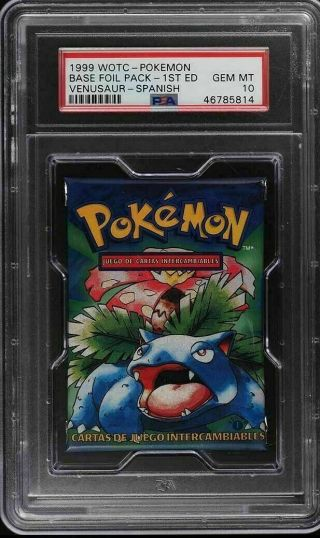 Pokemon 1999 1st Edition Base Set Booster Pack Spanish Psa 10 Gemmint Charizard?