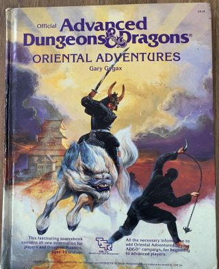 Ad&d – Oriental Adventures - Advanced Dungeons & Dragons - Tsr -