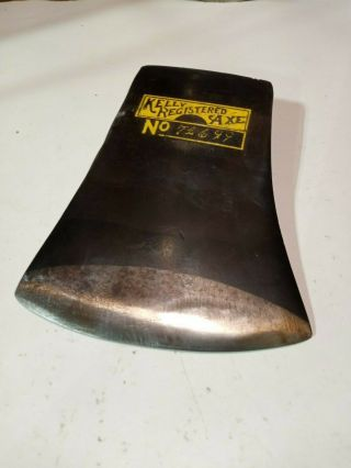 Kelly Registered Axe,  Connecticut Pattern Connie Full Bit Very Rare.